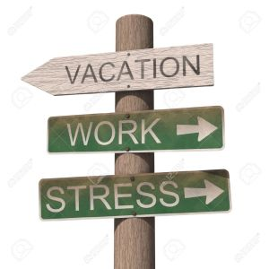 10032311-Wooden-vacation-sign-Isolated-on-the-white-background-Stock-Photo