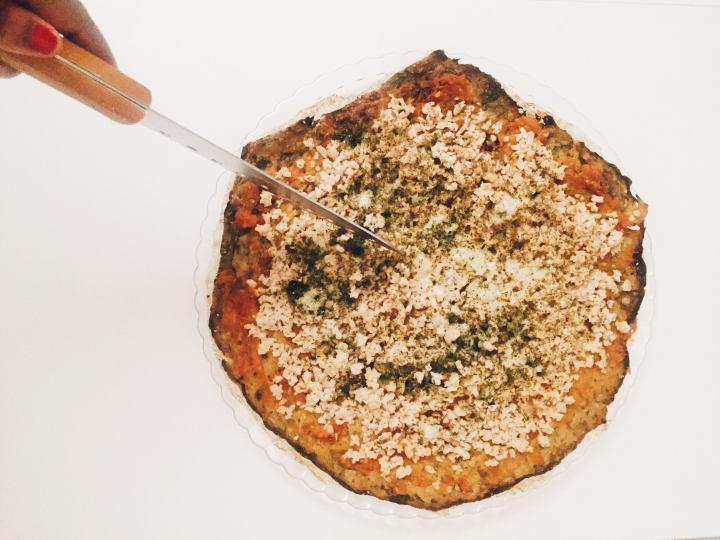 Pizza de Couve-Flor e SojaFina
